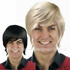 Mens 70s 80s Wig 90s Wig Short Blond Wig Black Wig Pop Star Wig Boy Band WIG
