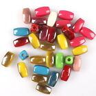 200/1000pcs 112942 Colorful Acrylic Rectangle Charms Spacer Beads Fit Handmade