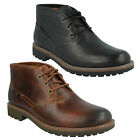Clarks 'Montacute Duke' Mens Dark Tan Or Black Leather Lace Up Ankle Boots