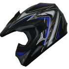 Motocross Dirt Bike ATV Off Road racing Helmet DOT 178 blue