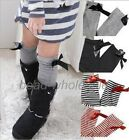 Kids Girls Cotton Bow Soft Knee High Socks 2-8Y Tights Leggings