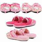 NEW COMFY KIDS GIRLS HELLO KITTY SLIPPERS MULES WARM WINTER HOME SHOE UK SIZES