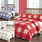Newkey Checked Duvet Cover Quilt Set And Pillow Case(s) Single Double And King