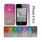 Ultra Slim Raindrop Crystal Hard Case Cover For iPhone 4 4S & Screen Protector