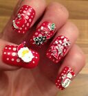 3D Nail Art Metal Alloy **Christmas** Santa,Snowman,Snowflake Decorations X 5