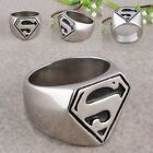 Fashion Men Stainless Steel Band Superman Superhero Finger Ring Men's Jewelry