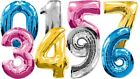 """FOIL NUMBERS 30"""" HELIUM NUMBER BALLOON 0-9!UK MANUFACTURED BALLOONS! GREAT VALUE"""