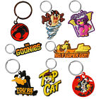 PVC/Enamel Keyrings. Retro Novelty TV Film Cartoon Keychain Choice Ideal Gift