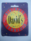 Personalised Birthday Button Badge - Jumbo 75mm - Names C to D
