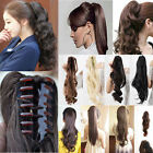 Wrap around/Claw clip in ponytail hair extensions curly/wavy Xmas gift k