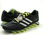 New 11 adidas SPRINGBLADE Running Shoes Black Electricity Neon Yellow G66970