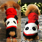 Lovely Pet Panda Costumes Dogs Soft Fleece Clothes Warm Jumpsuit Winter Hoodie