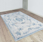 Cameo Savonnerie Nordic Blue Patchwork Wool Rugs - 8241