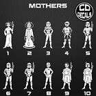 Star Wars Stick Figure Family Vinyl Decal Sticker Car Window Wall Laptop Dad Mom