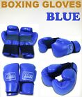 New MTN Gearsmith PU Professional Style Boxing Training Gloves Blue