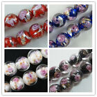 30 Handmade Lampwork Glass Round Bead Spacers 12mm  4color-1 P94