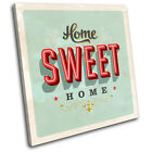 home sign shabby chic Typography SINGLE CANVAS WALL ART Picture Print VA
