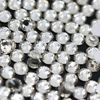 ss6-ss50 2-12mm silver back Czech Crystal clear Rhinestones Flatback Non-Hotfix