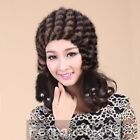 2013 New Women's Winter Hats Knitted Real Mink Fur Caps Hot Style Warm MS03