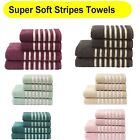 Soft Stripes Striped Cotton Luxury Bathroom Towels Hand / Bath / Sheet Available