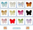 2pcs Swarovski Crystal Beads 5754 Butterfly 10mm * Many Colours *