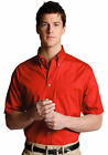Edwards Garment Men's Button Down Short Sleeve Pocket Poplin Dress Shirt. 1230