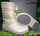 Womens Female Crocs Crocband Winter Boot - Oyster White - SIZE UK 4 & 5 AVAIL