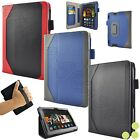 "caseen Amazon Kindle Fire HDX 7"" Inch Tablet Genuine Leather Case Smart Cover"