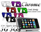 NEW CHROME HARD TOUGH PLASTIC STAND CASE COVER FOR APPLE IPHONE 3 3G 3GS