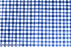 BLUE GINGHAM CHECK VINYL PVC OILCLOTH WIPE CLEAN TABLECLOTH CO click for sizes
