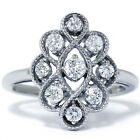 .60Ct Vintage Style Diamond Fashion Right Hand Antique Deco Ring 14K White Gold