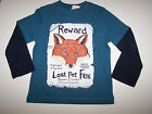 NWT GYMBOREE FOX TRAIL LONG SLEEVE TEE REWARD SIZES  6 Y / 10 Y / 12 Y