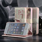 For iPhone 5 5S Magnetic Leather Flip Wallet Fashion Painting Stand Cover Case