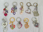 Coach Heart Love Keyfob Keychain Multi Mix Poppy Graffiti Signature Pave Crystal