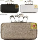Skull Ring Bling Women Bride Cocktail Party Evening Clutch Bag Handbag Purse