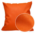 Pc511a Orange Faux Leather Cross Pattern PVC Cushion Cover/Pillow Case Custom Si
