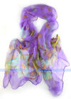 12 Color 100% Silk Shawl/Scarf Butterflies Oblong Scarf | FJUS