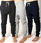 Mens TRACKPANT Gym Training deep cut plain trackie pants casual wear 3 COLOURS!