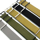 Military Watch Strap Band Nylon Webbing Army Various Colours, Sizes, Buckles