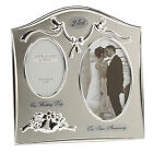 Silver Plated Wedding Anniversary double Photo Frame 25th 30th 40th 50th   GIFTS