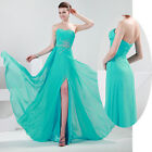 USA STOCK Luxury Chiffon Evening Formal Bridesmaid Wedding Gown Party Prom Dress