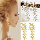 Fashion Lady Women Sexy Snow Glod Silver Stud Earring Full Rhinestone Earrings