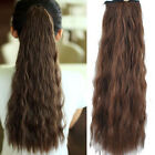 One Piece Femal Girls Long Corn Stigma Style Curly Wavy Hair Extension Clip In