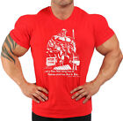 LIMITED EDITION RED IRON & PAIN BODYBUILDING T-SHIRT WORKOUT GYM CLOTHING J-106