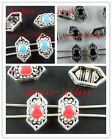 40 Tibetan Silver Enamel 2-holes Spacers 12x6.5mm 3color-1 zn296