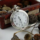 Antique Style Mens Womens Jewelry Silver Pocket Retro Chain Watch Vintage UK
