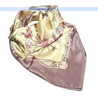"Women's Colorful Flowers Square Vintage Scarf Shawl 34"" 3Colors 