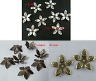 200pcs Silver/Copper/Bronze Color 5-leaves Bead Caps 16mm S17-S19