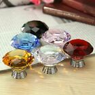 1pcs/4Pcs 40mm Crystal Glass Cupboard Wardrobe Cabinet Door Drawer Knobs Handle