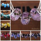 10pcs Glass Faceted Rondelle Loose Lampwork Beads Fit European Charm Bracelet